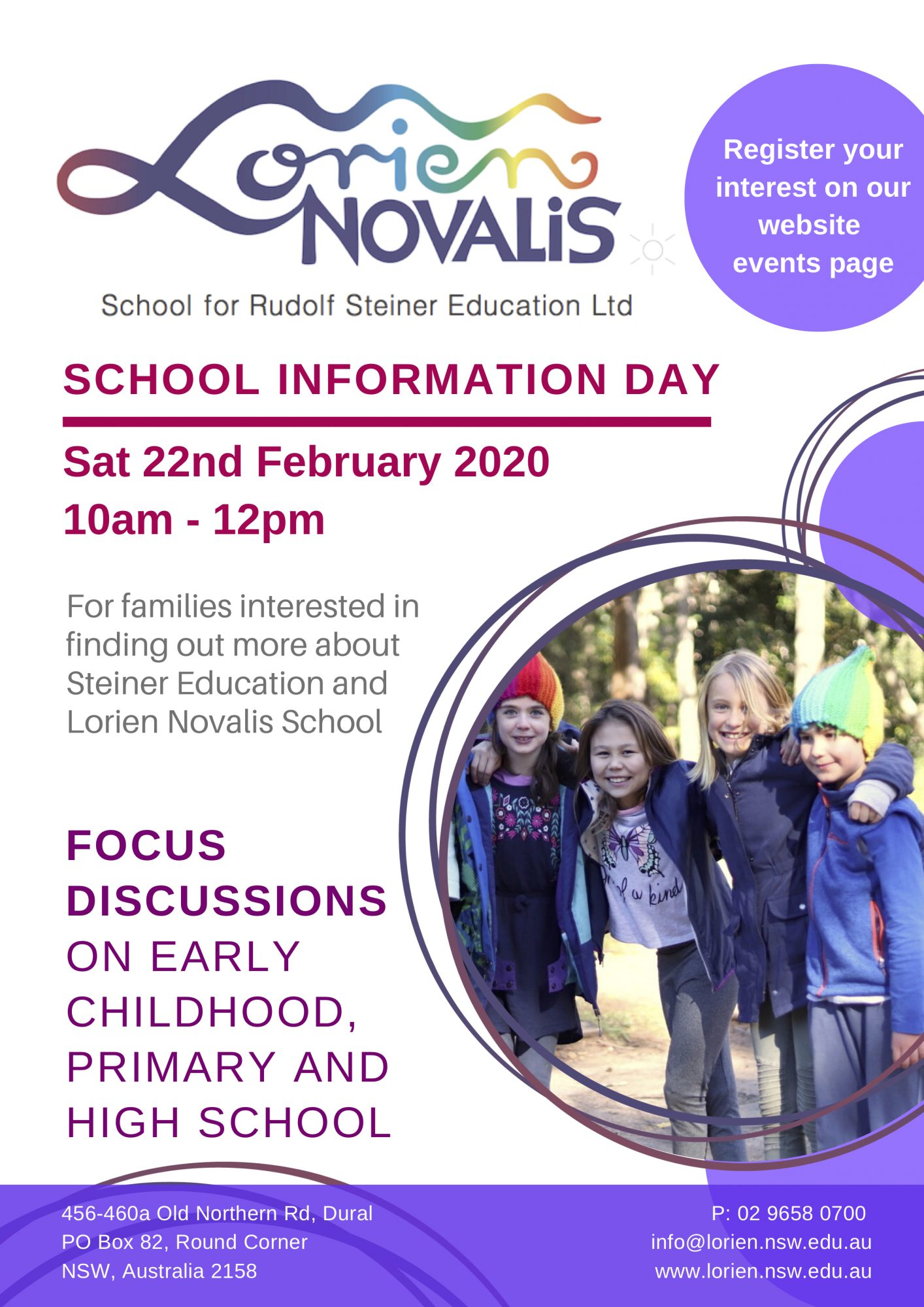 Lorien Novalis School Information Day