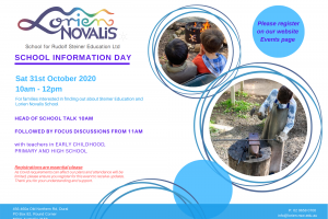 Term 4 Information Day Sat 31st October 2020