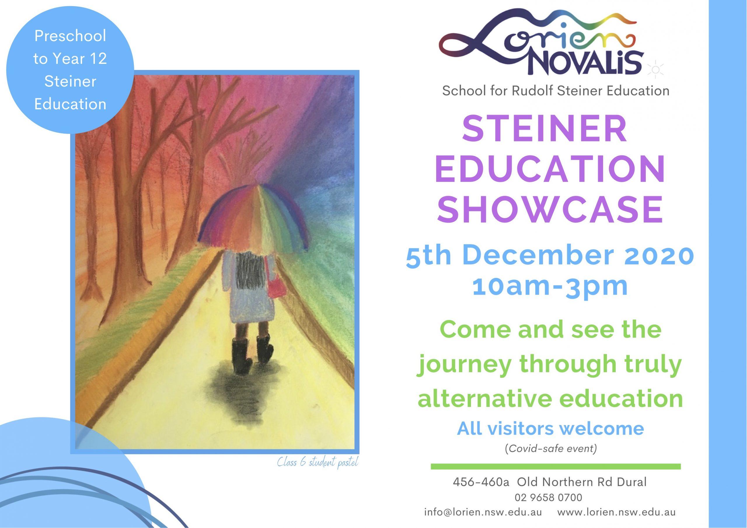 steiner education showcase 2020 flyer
